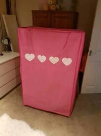 Girls pink fabric wardrobe
