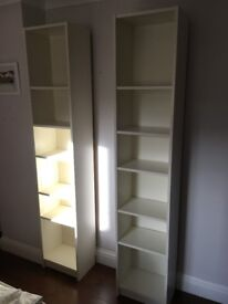 2 matching White IKEA Billy Bookcases 40 (width), x 30cm (depth) x 200cm (height).