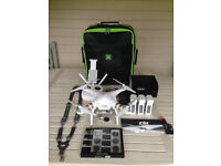 DJI Phantom 3 Professional 4K Quadcopter (3 Batteries; Multi-Charger; 6 PolarPro Filters + Extras