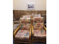 6 Cane Conservatory Chairs in very good condition
