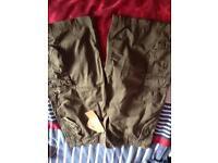 3 pairs of shorts one with tags