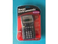2 x Texas Instruments BA II + financial calculator