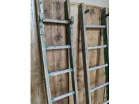 Decorative vintage ladders display upcycle etc green gplanera