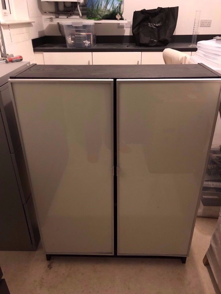 Ikea Black Billy Cook Case With Glass Doors