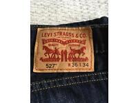 Levi 527 slim fit boot cut jeans
