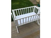 Crib cot swing cot mosses basket