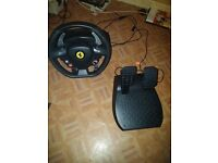 Thrustmaster Ferrari 458 italia steering wheel for PC/XBOX 360 With pedals
