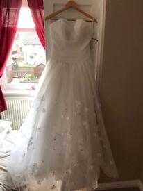 White Ballgown Wedding Dress