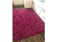 Shaggy rug in used but good condition