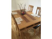 Oak Dining Table & 6 Chairs with matching Sideboard