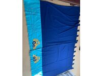 NEXT Kids Blue Digger Curtains with applique digger bulldozer design