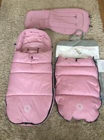 Bugaboo pink high performance footmuff plus seat liner