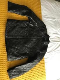 Reiss Biker style leather coat - Large