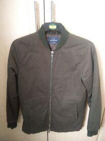 Mens khaki bomber jacket from Topman