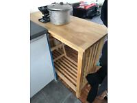 Side kitchen bar table