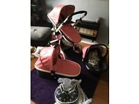 Cosatto Ooba Travel system with brand new chassis!!