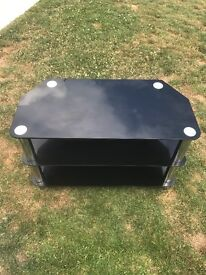 Black glass tv unit good condition