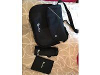 Silver cross changing bag (black)