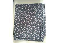 Fabric lengths - med wt cotton pink/purple 145 cm - floral 2.5 m, stripe 1.25 m