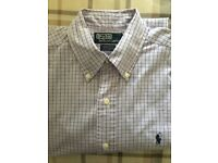 "Polo Ralph Lauren long sleeved shirt, 46"" for loose fit"