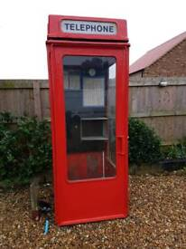 K6 K8 red phone box original telephone box 1970 with light