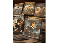 5 Harry potter dvds