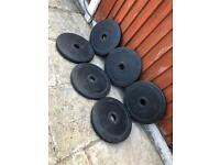4x10kg Olympic Rubber Weights Plates. •Can Deliver*•