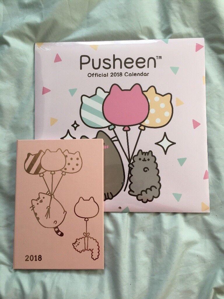 pusheen 2018 diary and calendar
