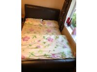 Faux Leather Headboard Double Bed for £100