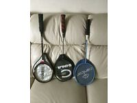 Badminton Rackets (2off) and Squash Racket (1 off)