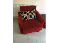 Superb sofa bed and 2 arm chairs