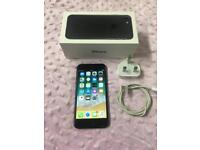 Apple pls I phone 7 Black 32gb Locked On Vodafone cracked screen fully working condition Boxed