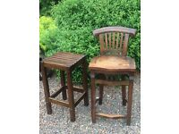 Two breakfast bar stools