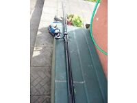 DAIWA LONGBEAM 13FT BEACHCASTER&JARVIS WALKER MIRAGE EN 850 FISHING REEL