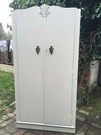 Vintage painted wardrobe