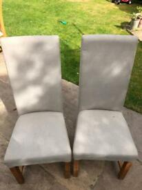 Pair of Grey Dining Chairs