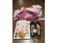 New puma sports bag, strip lights, medical books, trolley on wheels,