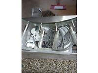 Large box of Electronics, Cables: phone, adapters & chargers lge mix