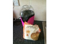 'Pretty Pink' Popcorn Maker with bag of kernels