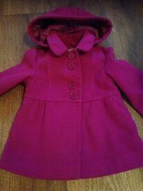 Girls next coat 12-18 months purple