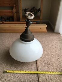 Large antique light fitting