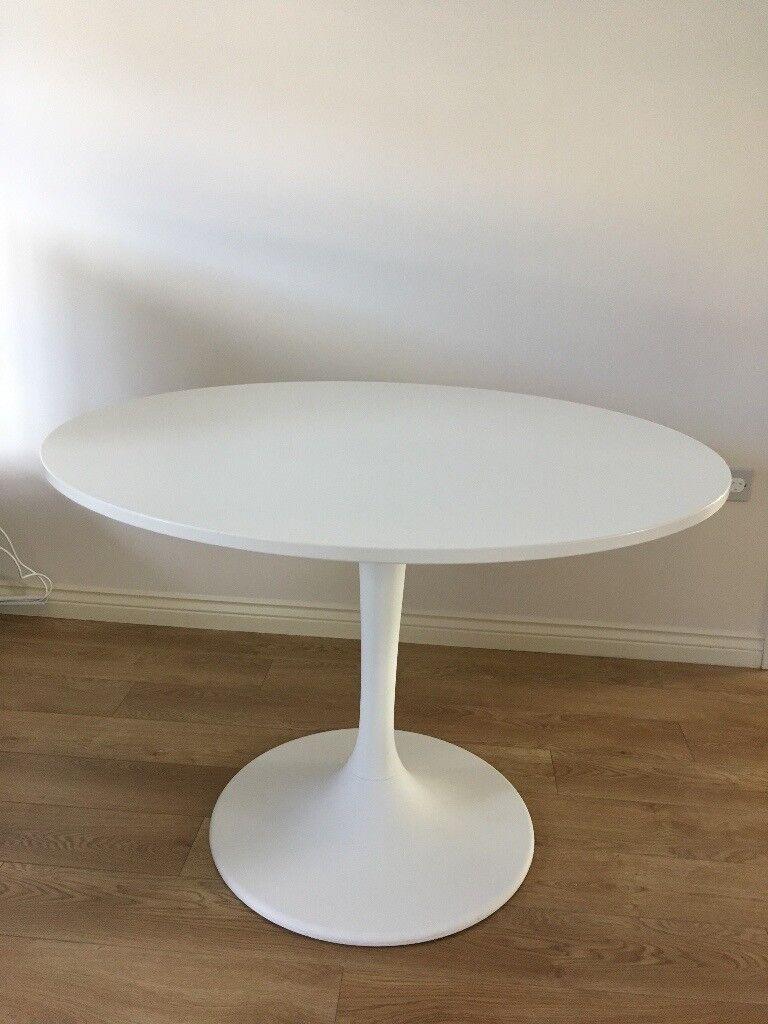 IKEA DOCKSTA white round kitchen dining table | in ...