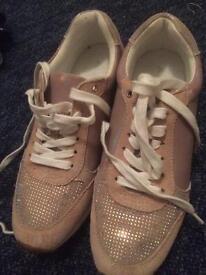 Pink ALDO trainers, size 6