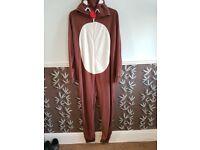 Men's George Reindeer Onsie Size XL - Excellent Condition
