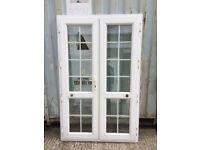 White georgian upvc doors