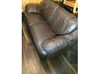 Two seat leather sofa + can deliver