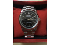 Mens Designer Datejust Watch Black/ Automatic Movement / Postage Available