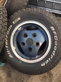 5x Ali wheels for landrover