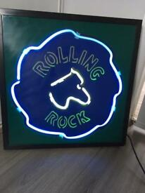 Rolling rock neon pub/man cave sign