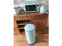 Candy rose kettle,toaster ,microwave and pedal bin